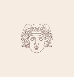 Hand drawn antique goddess isolated creative vector