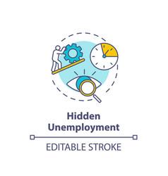 Hidden unemployment concept icon vector