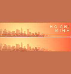 ho chi minh beautiful skyline scenery banner vector image