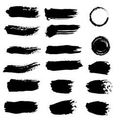 ink splashes black inked splatter dirt stain vector image