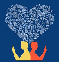 internet social media gay love icon concept design vector image