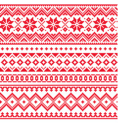 lapland seamless winter pattern sami art vector image