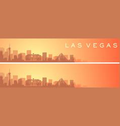 Las vegas beautiful skyline scenery banner vector