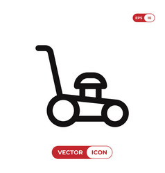 lawn mower icon vector image