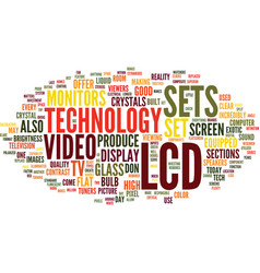 Lcd technology text background word cloud concept vector