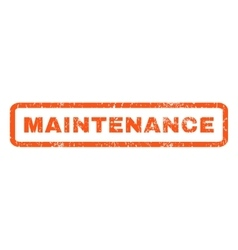 Maintenance Rubber Stamp vector