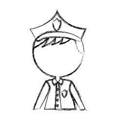 Man police officer avatar character vector