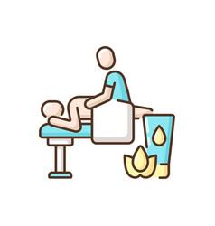 Massage rgb color icon vector