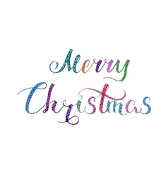 Merry christmas lettering color 2 vector