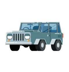 Offroad suv car icon vector