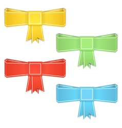Origami Bows vector image