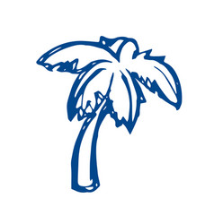 Palm tree sketch on white background vector