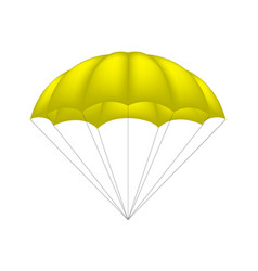 parachute in yellow design vector image
