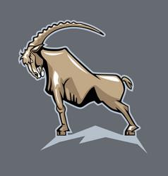 Proud mountain goat cartoon style vector
