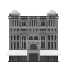 Queen Victoria Building icon in monochrome style vector