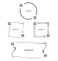 Quotes in quotation marks set vector