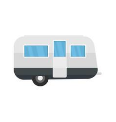 retro travel trailer icon flat style vector image