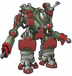 Robot warrior vector