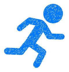 Running child grunge icon vector