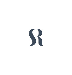 S and r logo design vector