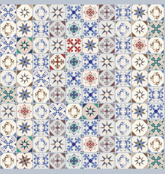 seamless pattern of hydraulic tiles typical vector image