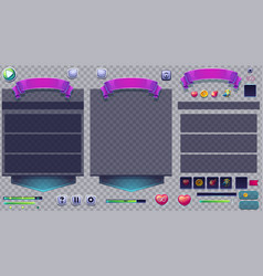 set different windows on a transparent background vector image