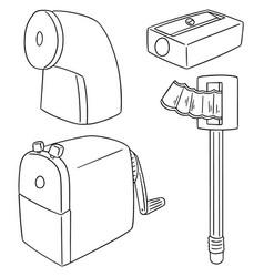 set of pencil sharpener vector image