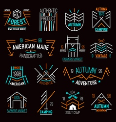 Set retro vintage badges vector