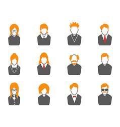 Simple avatar iconsorange series vector