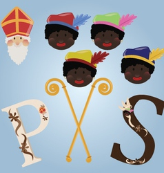 SInterklaas set vector