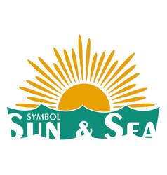Symbol of sun and sea vector