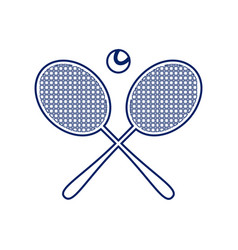two tennis racket with ball sign flat vector image