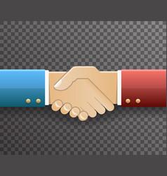 businessman handshake partnership symbol vector image