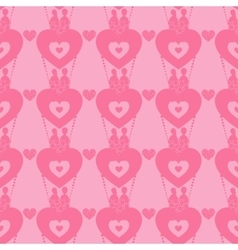 Lovers in a balloon seamless pattern valentine s vector