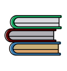 set of books vector image
