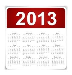 Simple 2013 year calendar vector image