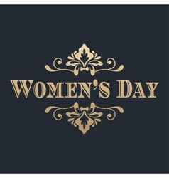 Womens day golden lettering vector image