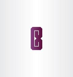 purple letter e logo sign design vector image