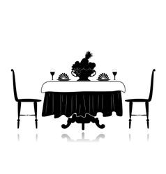 Restaurant little table vector image vector image