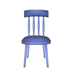 blue chair in retro design vector image