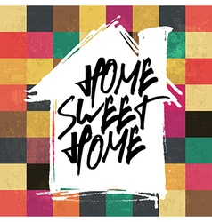 home sweet home colorful tiles pattern vector image vector image