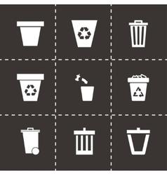 trash can icon set vector image