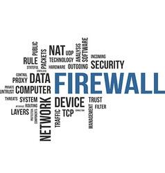 Word cloud firewall vector