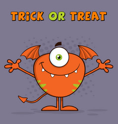 goofy monster cartoon character vector image vector image