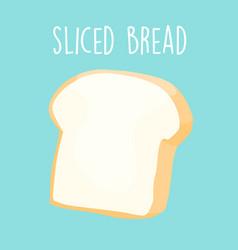plain sliced bread vector image vector image