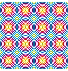 vintage colorful pattern vector image vector image