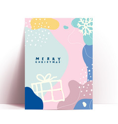 abstract trendy christmas card or poster design vector image