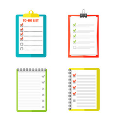 agenda list concept vector image