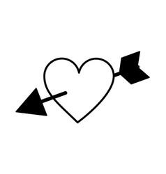 arrow heart isolated icon vector image