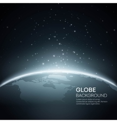 Background with Planet Earth Globe vector image